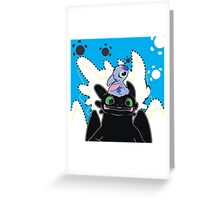 Stitch and Toothless Greeting Card