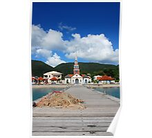 Church of Anse d'Arlet from the Quay - Martinique, F.W.I. Poster