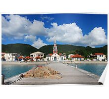 Church of Anse d'Arlet from the Quay 2 - Martinique, F.W.I. Poster