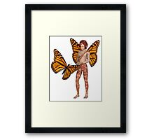 Monarch Butterfly Fairy Boy Framed Print