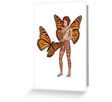Monarch Butterfly Fairy Boy Greeting Card