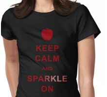 Keep calm and sparkle on Womens Fitted T-Shirt