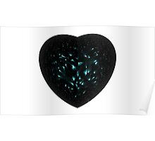 Black Diamond Heart Poster