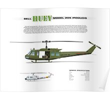 Bell Huey Helicopter (UH-1H transport) Poster