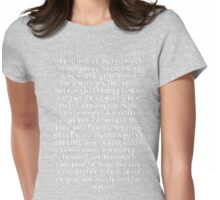 First Law of Thermodynamics - Full Speech Womens Fitted T-Shirt