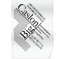 Big Caslon Poster