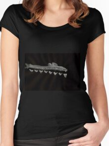 0030 - Brush and Ink - Swim Reception Women's Fitted Scoop T-Shirt