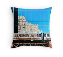 train in the loop Throw Pillow