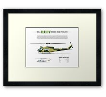 Bell Huey Helicopter (UH-1H transport) Australian Army Framed Print