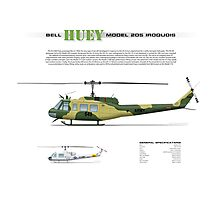 Bell Huey Helicopter (UH-1H transport) Australian Army Photographic Print