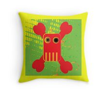 Half Tone Can Pirate Two Throw Pillow