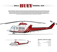 Bell Huey Helicopter (Model 412) Ambulance Victoria by JetRanger
