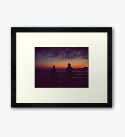 The wild hunt, the anticipated afternoons. Framed Print
