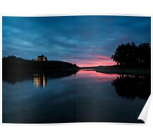 Sunrise over Waterton Lakes National Park and The Prince of Wales Hotel. Poster