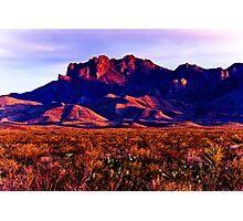 Big Bend Sunset Photographic Print