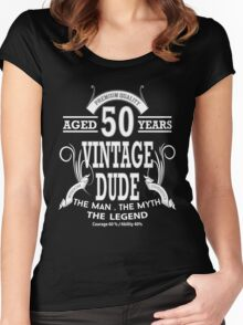 Vintage Dud Aged 50 Years Women's Fitted Scoop T-Shirt