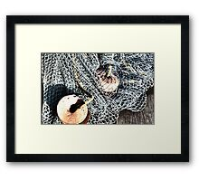 fishing nets 2 Framed Print