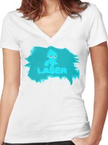 Laser Wisp (sonic colours) Women's Fitted V-Neck T-Shirt