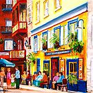 Cafe Courtyard by Carole  Spandau