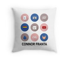 Connor Franta Infographic Throw Pillow