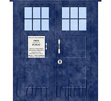 Doctor Who TARDIS - Cloudy 'I am Infinite' by Britt Walker