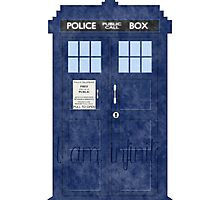 Doctor Who TARDIS - Cloudy 'I am Infinite' Photographic Print
