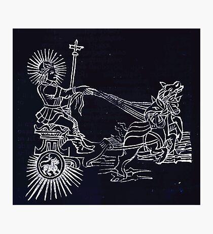 Hic Codex Auienii Continent Epigrama Astronomy Rufius Festivus Avenius 1488 Astronomy Illustrations 0191 Constellations Inverted Photographic Print