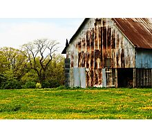 Old Barn in Illinois Photographic Print