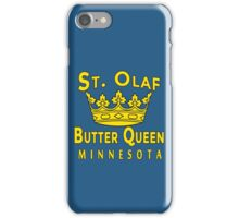 ST OLAF BUTTER QUEEN WITH CROWN iPhone Case/Skin
