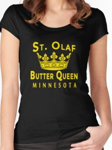 ST OLAF BUTTER QUEEN WITH CROWN Women's Fitted Scoop T-Shirt