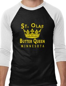 ST OLAF BUTTER QUEEN WITH CROWN Men's Baseball ¾ T-Shirt