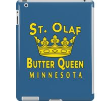 ST OLAF BUTTER QUEEN WITH CROWN iPad Case/Skin