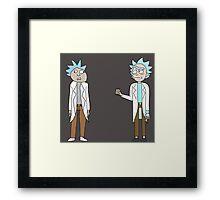Doc and Rick Framed Print