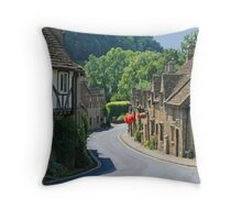 The Street, Castle Combe Throw Pillow