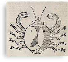 Hic Codex Auienii Continent Epigrama Astronomy Rufius Festivus Avenius 1488 Astronomy Illustrations 0142 Constellations Canvas Print