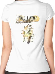 Final Fantasy   Band Tour Style Women's Fitted Scoop T-Shirt