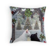 Mistletoe Magic Throw Pillow