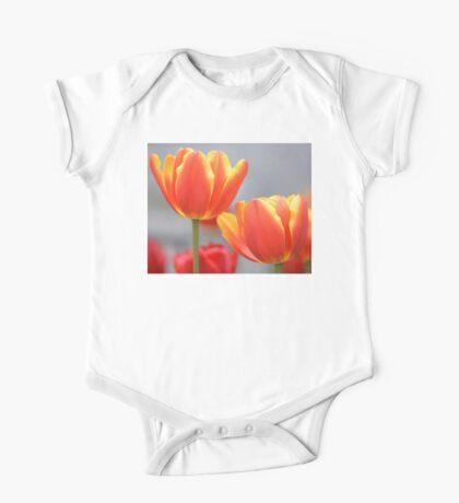 Orange Tulips One Piece - Short Sleeve