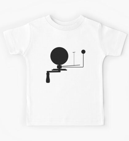 Handcrank Earth (Black) Kids Tee
