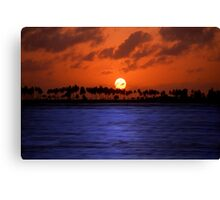 """Splendid Sunset"" - sunset in San Juan, Puerto Rico Canvas Print"