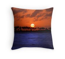 """Splendid Sunset"" - sunset in San Juan, Puerto Rico Throw Pillow"
