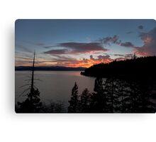 Lake Coeur D' Alene colors Canvas Print