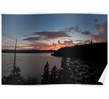 Lake Coeur D' Alene colors Poster
