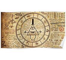 Bill Cipher Wheel Poster