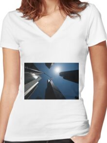 scyscrapers, Chicago loop, architecture Women's Fitted V-Neck T-Shirt