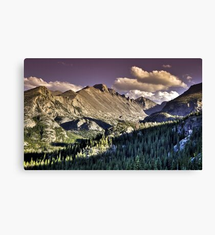 Rocky Mountain National Park Peaks Canvas Print