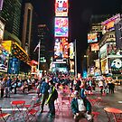 Time Square at night HDR by Flux Photography
