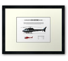 Eurocopter AS.350 A-Star Helicopter (Squirrel, Ecureuil) Framed Print