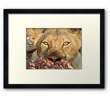 Are You Dessert? (Not for squeamish) Framed Print