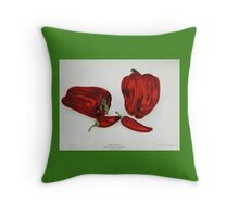 Vintage Red Pepper  Throw Pillow